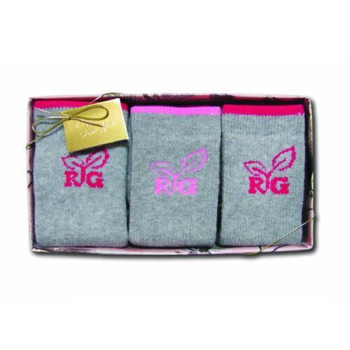 Realtree Girl Ladies Girls 3 Pack Socks Gift Box Medium 9-11 Boot