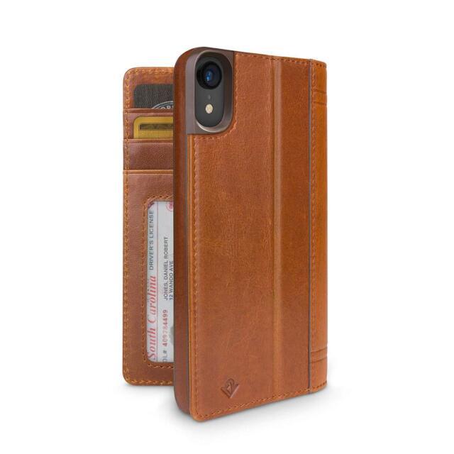 efb7596a8bdb9 Twelve South Journal Leder Folio Etui Tasche Case Cognac-Braun f.Apple  iPhone Xr