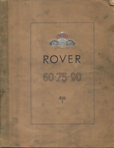 Rover-P4-195-Models-60-75-amp-90-Instruction-Manual-Handbook-Nov-1954-No-4038