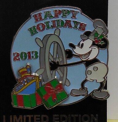 2018 Cast Member Winter Cross-U Pin Walt Disney World Steamboat Willie