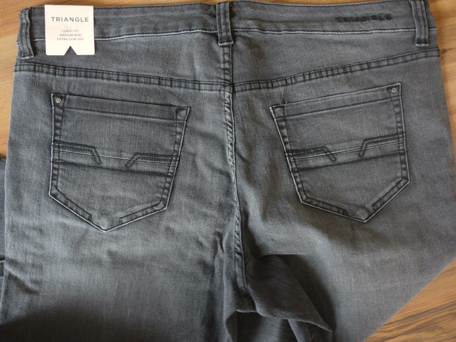 TRIANGLE BY S.OLIVER Jeans Pantaloni Antracite Antracite Antracite Tgl 40 - 50 Taglia Corta (233) 30 4eab0a