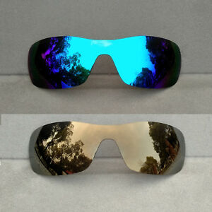 c7e4c2b2b5 Details about 2 Pieces Ice Blue Bronze Gold Replacement Lenses for-Oakley  Antix Polarized