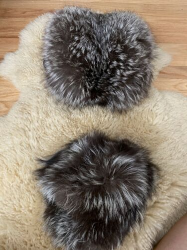Vintage Fur Hat And Hand Warmer With Zipper