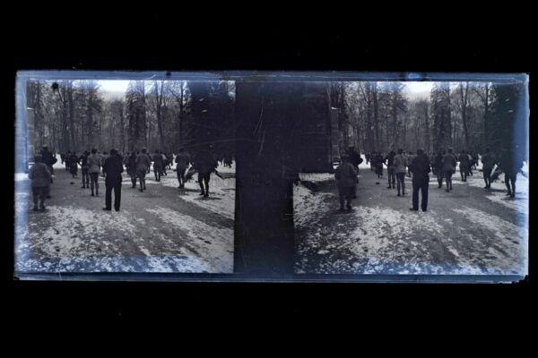 Plaque Stéréo Negatif Militaires Vintage Stereoview Negatif N23 RéTréCissable