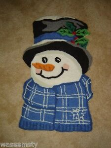 Frosty-Snowman-Smiley-Face-Winter-Accent-Decorative-Small-Area-Rug-Decor