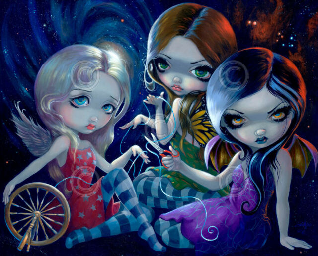 FAIRY ART PRINT - The Three Fates by Jasmine Becket-Griffith 11x14 Gothic Poster