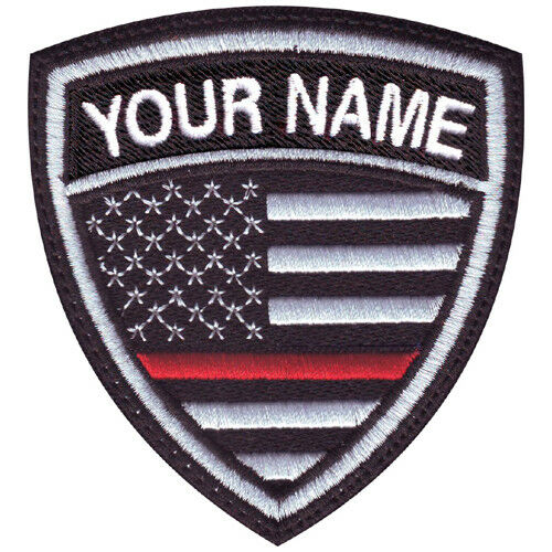 Thin Red Line USA Personalized Crest Embroidered Patch