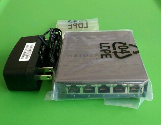 NEW NETGEAR ProSAFE GS105Ev2 5-Port Gigabit Web Managed Switch Plus