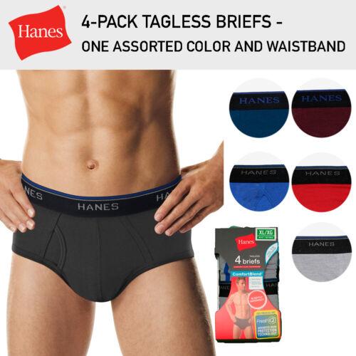 Details about  /Hanes 4-Pack Men/'s Briefs Tagless ComfortBlend Assorted One Color