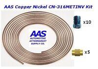 Aas Copper Nickel Tubing Cn-316 3/16 X 25' Brake Line With 15 Metric Fittings