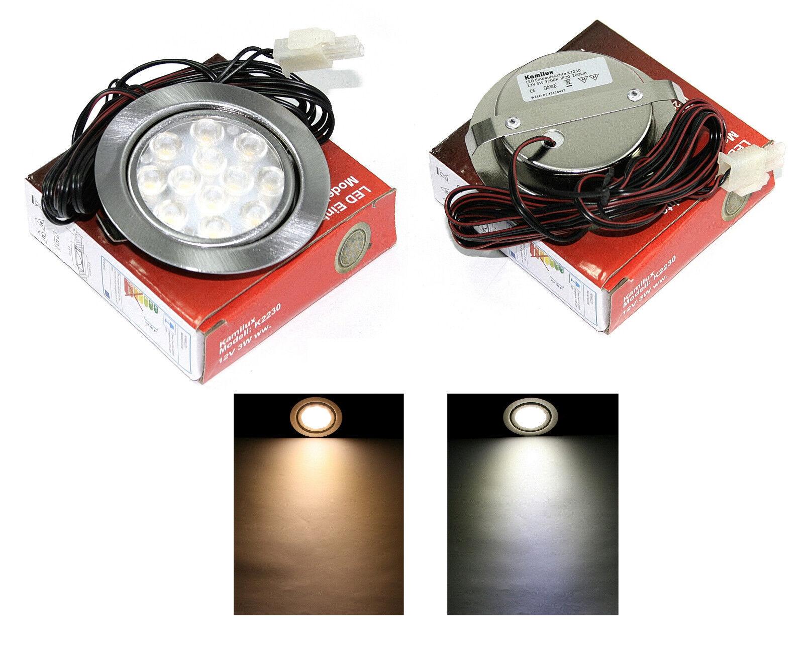 Küchen strahler Mobi 12V LED 3Watt  30Watt IP20 mit 1,5m Kabellänge ohne Trafo   | Die Qualität Und Die Verbraucher Zunächst  | Großer Verkauf  | Qualität zuerst