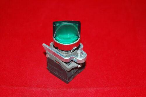 Iluminado interruptor 2 posición seleccionar 22mm cabe mantenido Verde XB4 BK123B5 24V