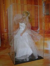 acrylic display case for vintage or collectable dolls, Sindy and Barbie etc