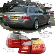 REAR LED TAIL TUBE LIGHTS RED-CLEAR FOR BMW E61 03-07 TOURING SERIES 5 LAMP NEW