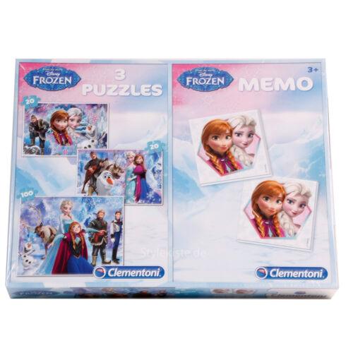 Disney Frozen Memo Disney Frozen Puzzle Set Elsa & Anna 2x20 Memo 1x100 Teile