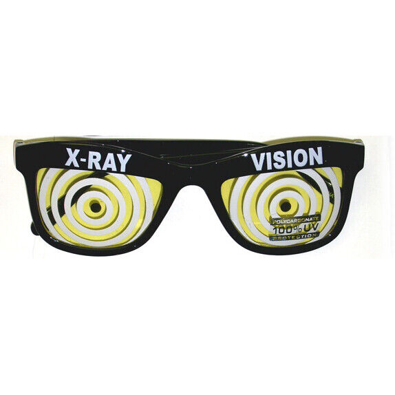 Choose Your Color X-Ray Vision Glasses Red Blue Yellow Specs Wayfarer Adult