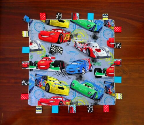 TaGgie Taggy Tag Security Blanket Toy comforter Dummy clip Holder Disney Cars