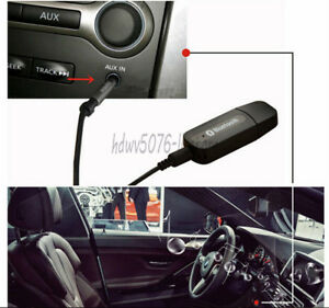 3.5mm Car Wireless Bluetooth Speaker Aux Music Receiver Adapter For Home Stereo