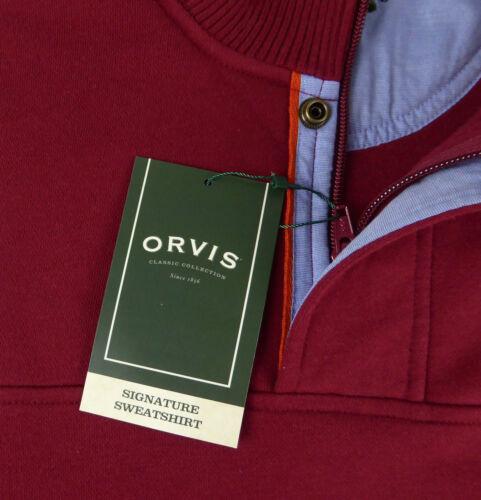 Orvis Imitation Daim Polaire Signature Sweat 1//4 Zip Pull Faux Col Neuf Avec Étiquettes 3 Color