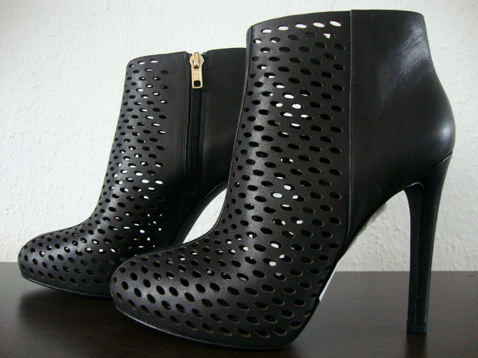 Ash Blondie botines de cuero botines zapatos de salón señora zapatos Black nuevo