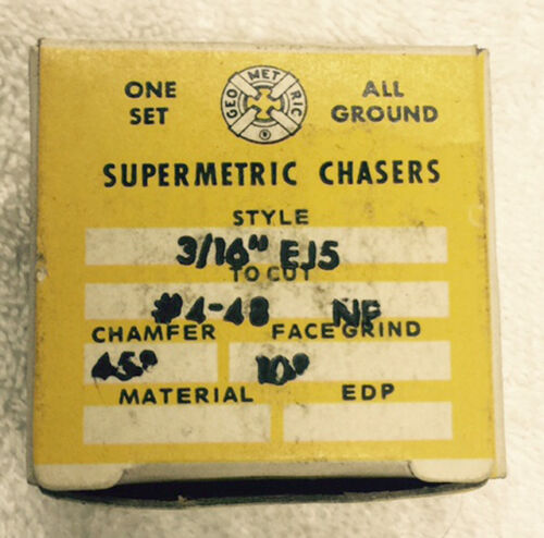 """NEW #4-48 Chasers for Geometric 3//16/"""" EJ5 Die Head"""