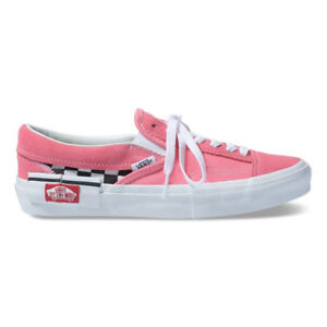 56d51e75bf924 Image is loading New-Vans-Slip-On-CAP-Checkerboard-Strawberry-Pink-