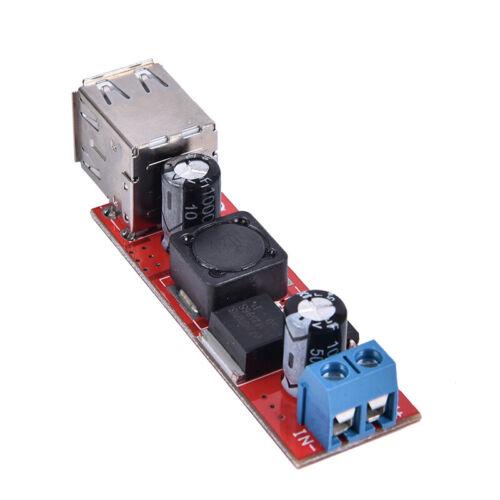 DC 6V-40V 12V To 5V 3A Dual USB Charger DC-DC Step-down Converter Module LM2L!Y