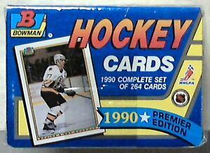 1990-91-Bowman-Hockey-Factory-Sealed-Set-1-264-Premier-Edition-Nice-Look