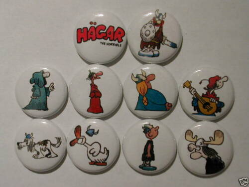 Hagar The Horrible 10 NICE NEW PINSPinbacks Buttons ZT