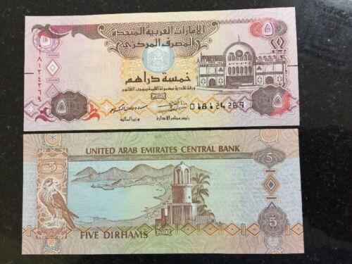 2018 UAE 2017 5 dirhams UNC Banknote New Release