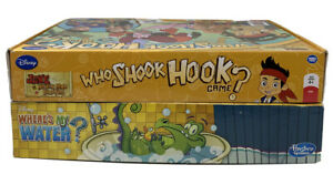 Disney-Who-Shook-Hook-amp-Where-039-s-My-Water-Hasbro-Board-Games-Complete