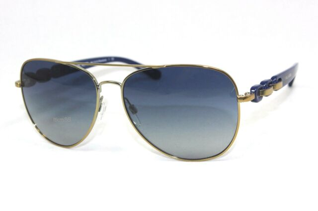 35df60b4a92 New MICHAEL KORS PANDORA MK1015-11324L Pale Gold   Blue Gradient Sunglasses
