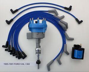 1985 1991 ford 5 0l 302 efi distributor blue spark plug. Black Bedroom Furniture Sets. Home Design Ideas