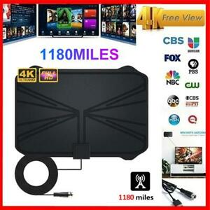 Digital-TV-Antenna-1180-Miles-Range-Signal-Booster-Amplifier-HDTV-Indoor-4K