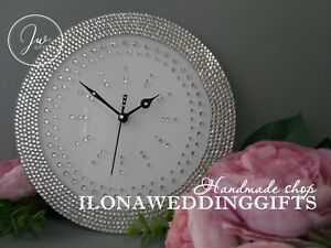 Swarovski Crystal Rhinestone Bling Sparkle Silent Wall Clock Watch Elegant Gift Ebay