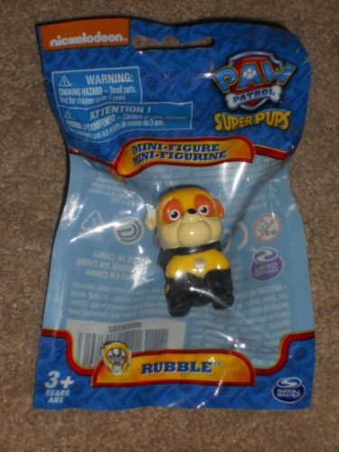 Nickelodeon Paw Patrol Mini Figure Super Pups RUBBLE New