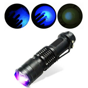 Mini-UV-Ultra-Violet-LED-Flashlight-Blacklight-Light-395nM-Inspection-Lamp-Torch