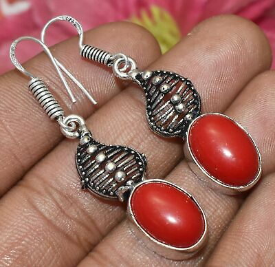 .925 Sterling Silver Plated Dangling Drop Earrings Naked