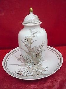 Classy-Lid-Vase-with-Decorative-Plate-Bowl-Kaiser-Porcelain-Atlantis