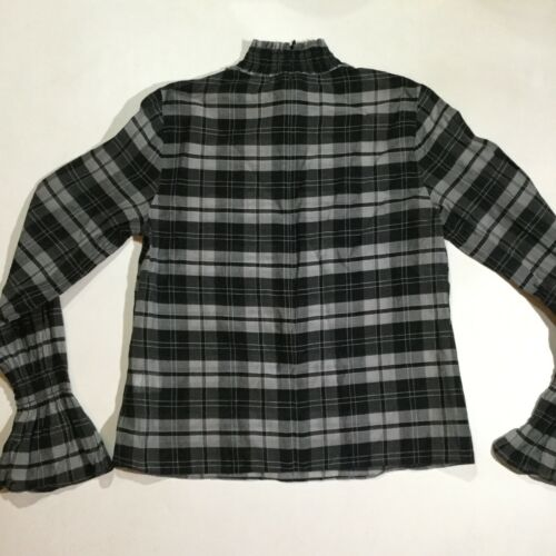 Plaid lunghe a Label Top maniche Black S Blend Size Grigio Seta Womens Intermix Bvxwz0qa
