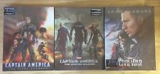 CAPTAIN AMERICA COLLECTION - BLUFANS 3D LENTICULAR BLU RAY STEELBOOKS - ALL NEW