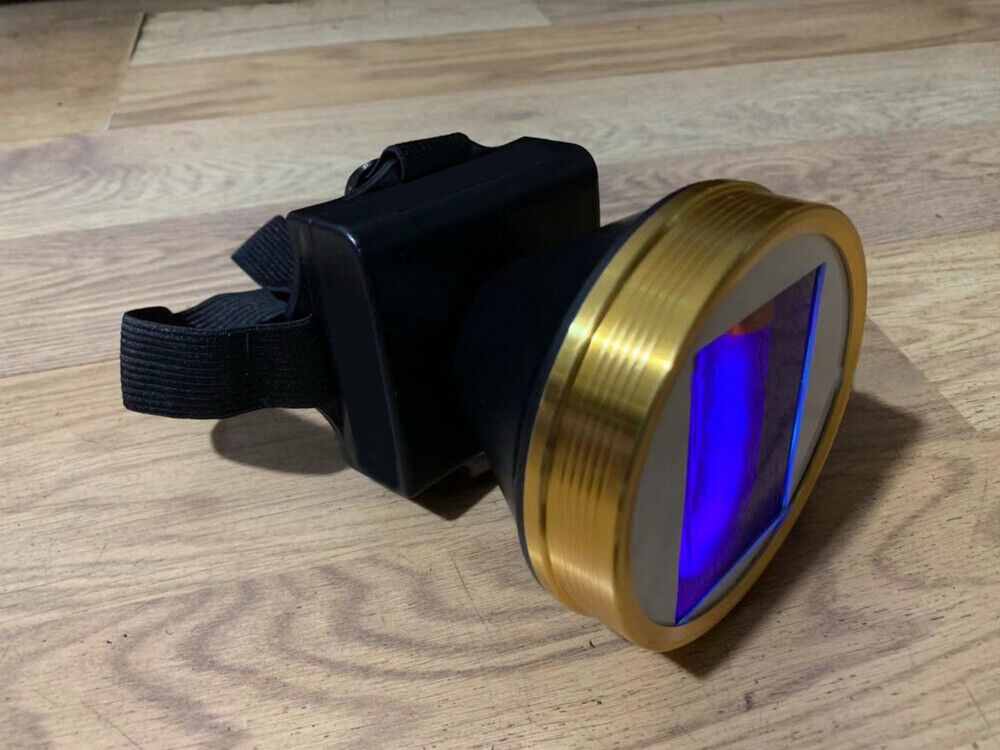 8W SW Shortwave Ultraviolet Headlamps Rechargeable Headlight Minerals Detector