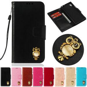 3D-Owl-Wallet-Leather-Flip-Case-Cover-For-Sony-E5-XA1-XA2-XZ1-XZ2-Compact-L1-L2