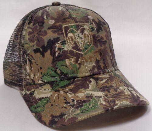 Hat Cap Licensed Dodge Ram Truck Camo Camouflage Mesh Back HR 230
