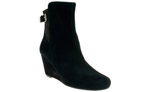 Isaac-Mizrahi-Live-Suede-Wedge-Ankle-Boots-PICK-SIZE-amp-COLOR-new