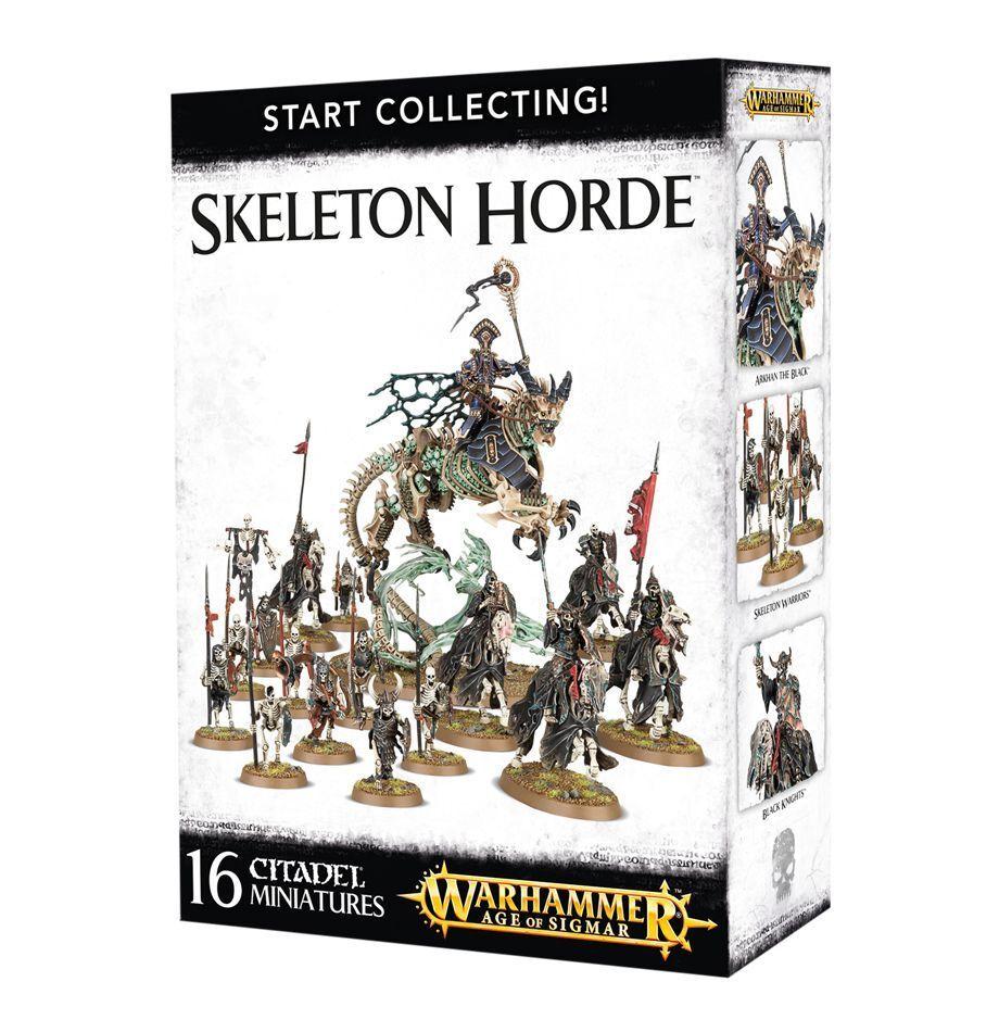 Warhammer edad de Sigmar  empezar a recolectar  esqueleto horda 70-94