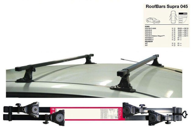 onwards Roof Rack Cross Bars LockableFord Focus MK3 Hatchback 2011