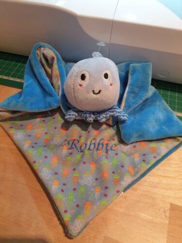 Personalised Embroidered Baby Comforter Mermaid Octopus Shark