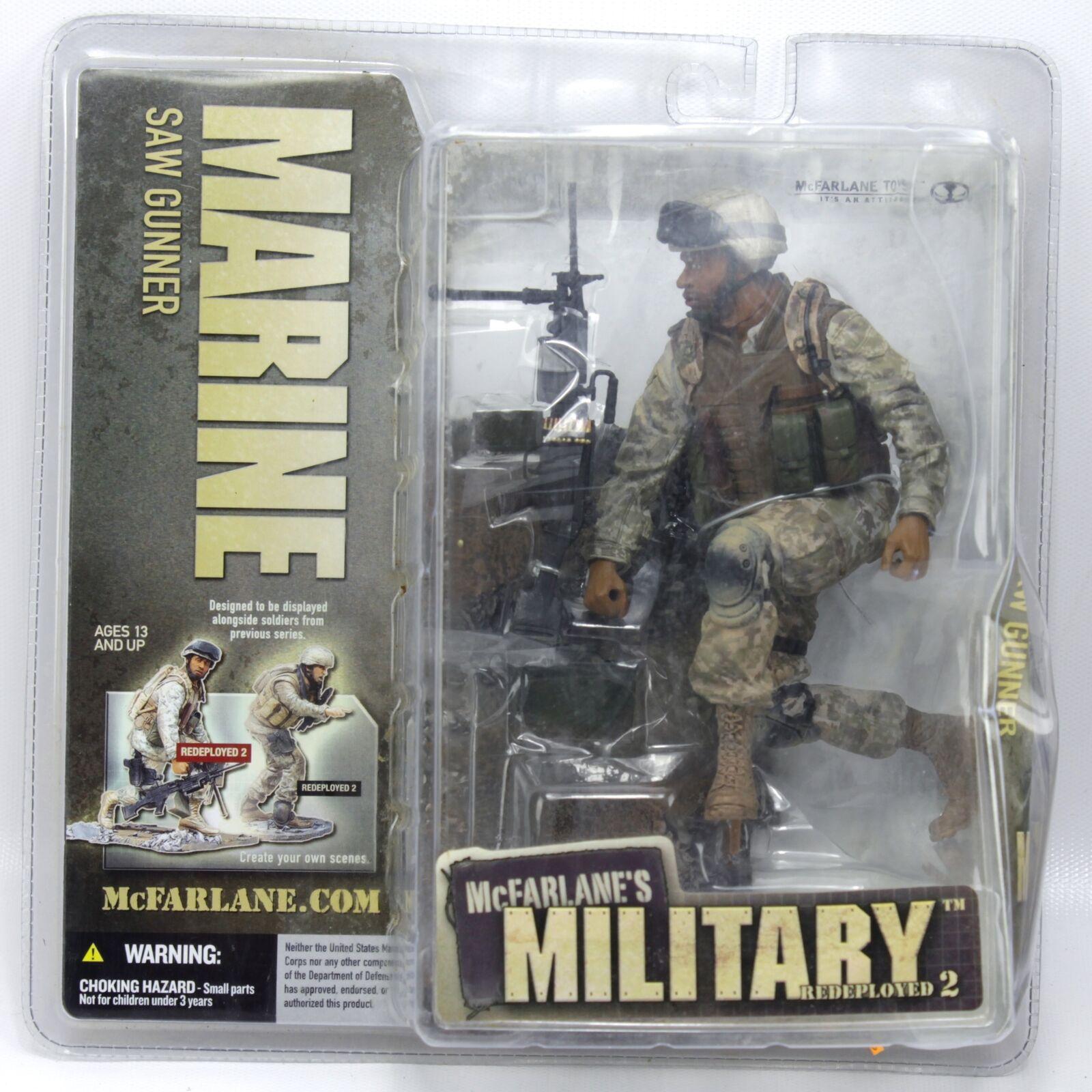 McFarlane Military Marine Saw Gunner Redeployed 2 African American Action Figure