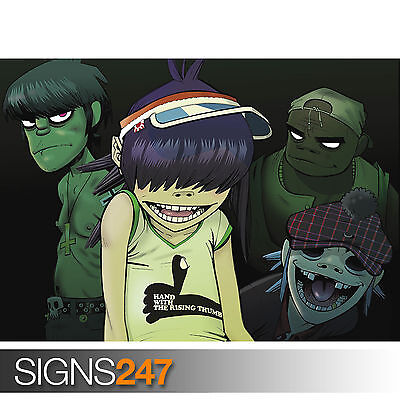 Gorillaz Giant Poster A0 A1 A2 A3 A4 Sizes